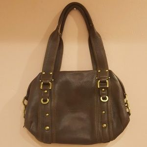 Kenneth Cole Brown Leather Zipped Purse Bag
